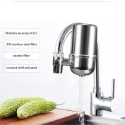HuangXin Faucet Water Filter System,Water Purifier accuracy of filtration is up to 0.1um, Removing Filtration System & Cartridge For Kitchen and Bathroom Sink