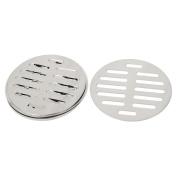 Unique Bargains Stainless Steel Round Sink Floor Drain Strainer Cover 10cm Dia 5pcs