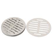 Stainless Steel Round Sink Floor Drain Strainer Cover 13cm Dia 5pcs