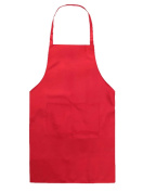 Hosaire Children's Artists Aprons with 1 pocket Sleeveless Art Craft Smock Aprons for Kitchen, Classroom, Community Event, Crafts Art Painting Activity Red