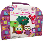Sewing Kit for 7 to 12 age, DIY crafts for kids, The Most Wide-Ranging Kids Sewing Kit, Over 110 Quality Kids Sewing Supplies, Includes booklet of cutting shapes stencils for the first step in sewing.