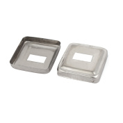 2pcs Stair Handrail Hand Rail 30mm x 15mm Post Plate Cover 304 Stainless Steel