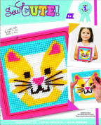 Colorbok Cat Learn To Sew Needlepoint Kit, 15cm by 15cm Pink Frame