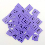 200pcs English Wood Letters A-Z Kids Learning Cognition Education Toy Games Scrabble Tiles Wood Craft Letters Word Tiles Wooden Letters Replacement Tiles Square letter For Scrapbooking