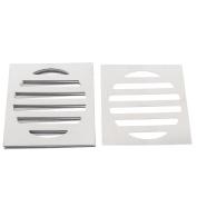 """Unique Bargains Stainless Steel Kitchen Bathroom Square Floor Drain Cover 3"""" 7.5cm 5pcs"""