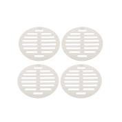 """Unique Bargains Kitchen Bathroom Round Floor Drain Drainer Cover 4.4"""" 11.2cm Dia 4Pcs"""