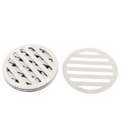 """Unique Bargains Kitchen Bathroom Round Floor Drain Drainer Cover 3.4"""" 8.6cm Dia 8Pcs"""