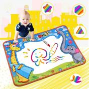 Water Aqua Drawing Magic Doodle Mat, Water Doodle mat, Colour Children Board & Magic Pens Kids Educational Toys Boys Girls Gift
