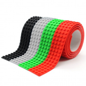 Self-adhesive Silicone Building Block Bricks Tape Baseplate Base Plates for Construction Toys Wall Decoration, Easy Cutting Roll Strips