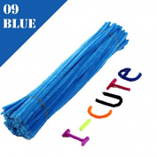 WXLAA 100pcs DIY Chenille Stems Pipe Twist Rods Cleaners Kids DIT Craft Toys Dark Blue