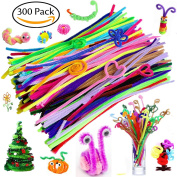 300 Pcs Pipe Cleaners - Craft Supplies Chenille Stem by BellaBetty