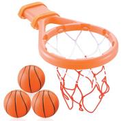 3 Bees & Me Bath Toy Basketball Hoop & Balls Set for Boys and Girls - Kid & Toddler Bath Toys Gift Set