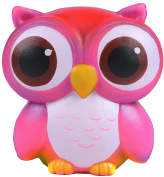 Aolige Squishies Slow Rising Jumbo Kawaii Cute Colourful Owl Creamy Scent for Kids Party Toys Stress Reliever Toy