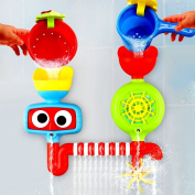Baby Bath Toy - Waterfall Water Station with Two Stackable Cups by Playboom - Enhance Your Baby's Thinking Ability and Creativity Great Toy For Boys - Girls-Toddlers