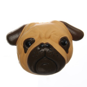 TEEGOMO Cute Pug Dog Khaki Shar Pei Animal Squishies Slow Rising Kids Gift Fun Collection Stress Relief Toy