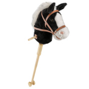 Horse Stick With Sound Toy Stuffed Animal Horse Stick 90cm Black By HollyHOME