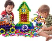 AMTOYS Snow Flakes 400 Discs | STEM Educational Brain Building Toy | Interlocking Plastic Construction Connect Set | Promotes Fine Motor Skills Development - Therapy Tools