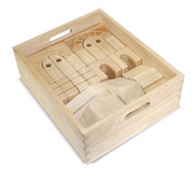 Melissa & Doug Architectural Wooden Unit Block Set With Storage Crate