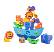 Joyin Toy Wooden Balance Game Animal Stacking Blocks Baby Toddler Building Blocks For Kids