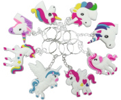 O'Hill 40 Pack Rainbow Unicorn Keychains Key Ring Decoration Birthday Party Favour Supplies