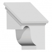14cm W x 17cm H x 29cm P Decorative Corbel Dentil Block