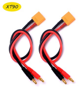 YoungRC RC XT90 lipo Battery Balance Charge Cable xt90 connector to 4.0 Banana Plug charge lead 30cm 12AWG for RC Helicopter Quadcopter Lipo charger