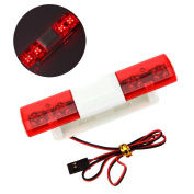 LAFEINA Multi-function LED Police Flash Light Lamp for 1/10 1/8 RC HSP Traxxas TAMIYA CC01 RC4WD D90 Axial SCX10 Model Car
