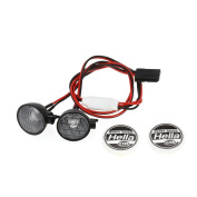 Goolsky Austar AX007A 2pcs RC Car Multi-Function Round LED Light with Lampshade for 1/10 SCX10 D90 TRX4 Model Crawler Car