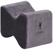 Orthopaedic Contoured Memory Foam Knee Pillow - For Sciatic Back Pain - Removable Polyester Cover - by Utopia Bedding