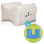 Comfywise White Orthopaedic Knee Pillow for Side Sleepers