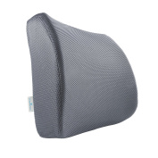 PharMeDoc Lumbar Support for Office Chair - Memory Foam Lumbar Pillow for Car Seat - Lower Back Sciatica Cushion - Orthopaedic Foam Wedge - Improved Posture Corrector - Adjustable Back Pillow