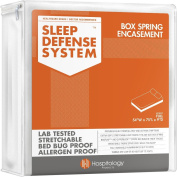 The Original Sleep Defence System - PREMIUM Zippered Bed Bug & Dust Mite Proof Box Spring Encasement & Hypoallergenic Protector - 140cm by 190cm , Full
