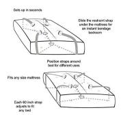 Crisscross Adjustable Bed Sheet Straps Suspenders MAN AND WOMEN