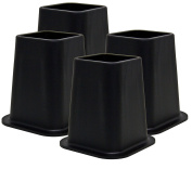 Kings Brand Heavy Duty 15cm Bed Risers, Furniture Riser, Great for Under Bed Storage, Set of 4