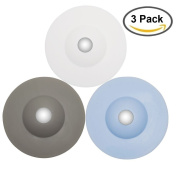 MBSSHI Multi-function Drain Stopper and Hair Catcher of 3 Colours and Strainer for Floor, Laundry, Kitchen and Bathroom