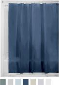 InterDesign PEVA 3 Gauge Shower Curtain Liner - Mould/Mildew Resistant, PVC Free – Navy, 180cm x 210cm