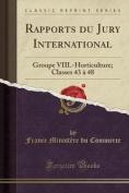 Rapports Du Jury International [FRE]