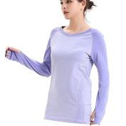 LWJ 1982 Ladies Long Sleeve Running Thermal Yoga Pilates Gym Clothing Sports Tops