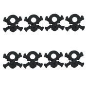 BASTENS black skull and cross bone body washers 8-piece for 1/10 scale RC car & truck such as Traxxas 1815 Losi HPI Axial Wraith SCX10