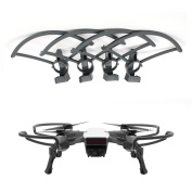 AQGOODLIFE DJI Spark Accessories Propeller Guards Quick-Release with Landing Gear Leg Height Extender 2 in 1 Protection Combo Set