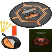 Drone landing pad, Universal Waterproof Portable Fast-Fold UAV Landing Pad for Parrot Disco AR Drones Helicopter, 3D Robotics Solo; PVB Drones, DJI Mavic Pro Phantom 2/3/4/ Pro,AscTec Firefly, Antel R