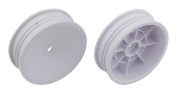 """12mm Hex 2.2"""" Slim Front Buggy Wheels (2), White"""