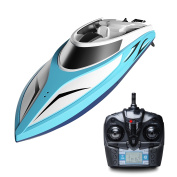 H102 Velocity Remote Control Boat for Pool & Outdoor Use – RC Racing Boat with Remote Control; Force1 High-Speed Series RC Boats for Adults & Kids + Bonus Battery