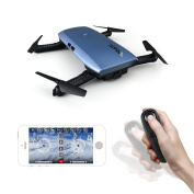 Noiposi RC Drone Quadcopter JJR/C H47 Elfie Foldable Selfie Pocket Drone Gravity Sensor Mode One hand Remote Control Mini Quadcopter with 2.0MP 720 HD Camera