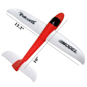 Foam throwing glider air plane inertia aircraft toy hand launch aeroplane model outdoor sports flying toy for kids children boy girl as gift,by MIMIDOU .