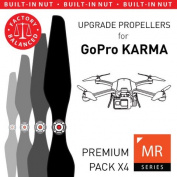 GoPro Karma Built-in Nut Upgrade Propellers in Black - x4 propellers