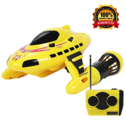 Yarmoshi Ski 'n Dive Yellow Submarine & Speed Boat. This Surf & Dive Model / Toy with Lights has a High Performance Remote Control and reaches Speeds of 3 to 6 Miles an Hour - For 8 Years & Up.