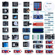 Elegoo Upgraded 37 in 1 Sensor Modules Kit with Tutorial for Arduino UNO R3 MEGA 2560 Nano 2016 new version