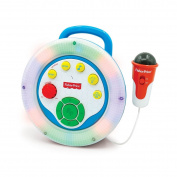 Fisher-Price Sing-Along Karaoke with Colour Changing Lights,features Built-in Radio, Demo Songs, Music Line-in Jack Microphone and Volume Control, Perfect Gift for your Kid Who Loves to SING!