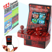 Upgraded Mini Arcade Game Machine Retro Handheld Console Portable for Kids Adults Family Boys, 183 Video Basketball Classic Game 2 Joystick Player 7.1cm Display Games Download Toys Travel by Symfury